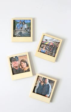 Turn Instagram Pictures Into Poloroid Magnets--make my own frames out of balsa wood and paint white