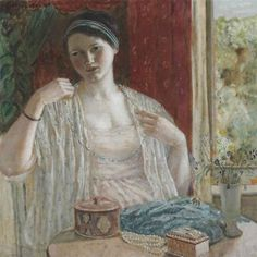 Artwork by Frederick Carl Frieseke, Girl with Necklace, Made of oil on canvas