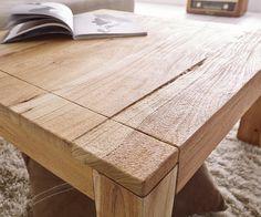 Couchtisch Amadora Altholz Natur 80x80 Cm Massivholz Möbel Tische  Couchtische
