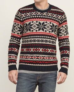 A&F From Past to Present // Patterned Crew Sweater // abercrombie.com