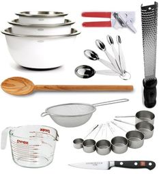 All the prep tools you need in the kitchen. The others can pretty much be categorised as junks or kitchen decorations.