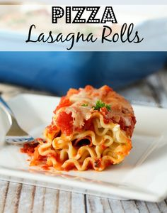 Pizza Lasagna Rolls on RachelCooks.com