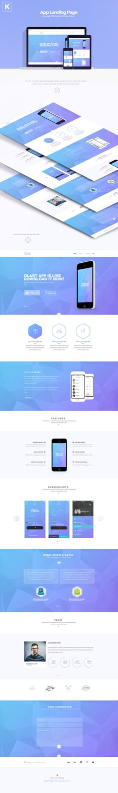 This is an one page app landing page, I designed this to keep it in my portfolio. :)