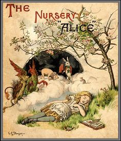 """""""The Nursery Alice"""", originally published in 1890, was the only edition of """"Alice"""" that Sir John Tenniel ever coloured, with twenty illustrations drawn from """"Alice's Adventures in Wonderland"""", combined with a new text, adapted by Lewis Carroll for young children."""