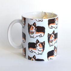 Welsh Corgi Pattern Mug
