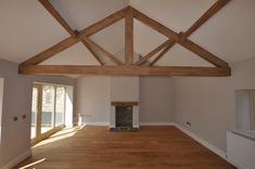 A luxury development of two unique barn conversions in Weeton (between Leeds & Harrogate). From dilapidated farm buildings to luxury barn conversions Construction Images, Converted Barn, Barn Renovation, Roof Structure, Site Visit, Beams, Bridge, New Homes, Barn Conversions
