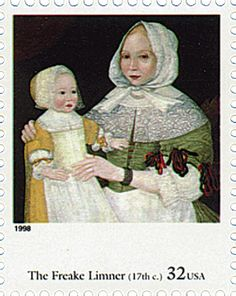 USA Aug 27, 1998- Scott# 3236b-Mrs. Eliz. Freake and baby Mary by The Freake Limner