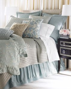 """Jackie"" Bed Linens by Lili Alessandra at Horchow."