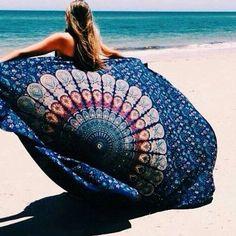 Beach Boho Chic Round Beach Blanket#516082