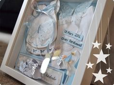 [ P r i n s e s s e g r o r u d ]: Dåp Minneramme Container, How To Make, Baby, Baby Humor, Infant, Babies, Babys