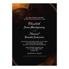 "Wedding Invitation - Halloween Elegant Gothic 5"" X 7"" Invitation Card"