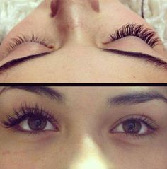 Eyelash extensions versus regular lashes.....what a difference! Come and see our lash expert Courtney Jenkins for a FABULOUS full set! Call now! 407-977-8481