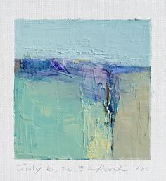 July 6 2017 Original Abstract Oil Painting 9x9 painting