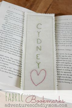 Fabric Embroidered Bookmarks