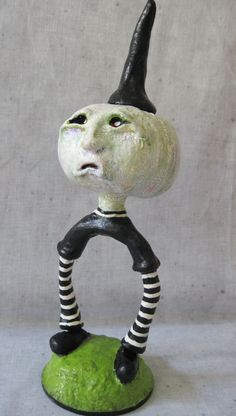 Zikel OOAK Whimsical Folk Art Sculpture. by Treasuresnwhimsy