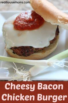 Cheesy Bacon Chicken Burger