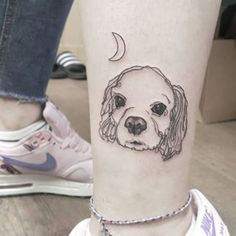 This little cutie. | 31 Beautiful Dog Tattoos Every Dog Lover Will Appreciate