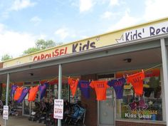 Take your clearance sale signage outside... Too Good to be Threw loves this idea. Thanks, Carousel Kids (visit their site at http://howtoconsign.com/find.htm#Missouri)