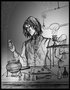 """snape doing potions"" 
