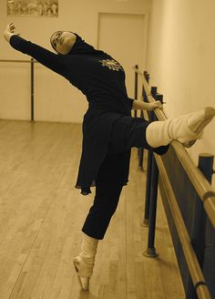 A Muslim ballerina :) this shows that muslim  girls can do sports