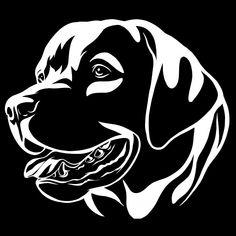 Decorative Portrait Of Dog Labrador Retriever, Vector Isolated Illustration Perro Labrador Retriever, Labrador Noir, Animal Stencil, Stencil Art, Handmade Dog Collars, Dog Silhouette, Pyrography, Dog Art, Animal Drawings