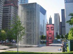 video fountain - Chicago Chicago - Illinois - USA #Chicago #Illinois #USA #photography #city #Polacy_w_USA #Polonia #wietrzne #miasto #windy #city