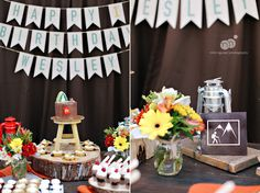 wesley's 1st | camp themed 1st birthday party | orange county | the great dane baking company birthday cake | sweet and saucy mini cupcakes and desserts