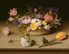 Ambrosius Bosschaert  the Elder (1573 -1621) —  Still Life with Flowers, 1614  : The J. Paul Getty Museum,  Los Angeles, California.  USA  (1600x1268)