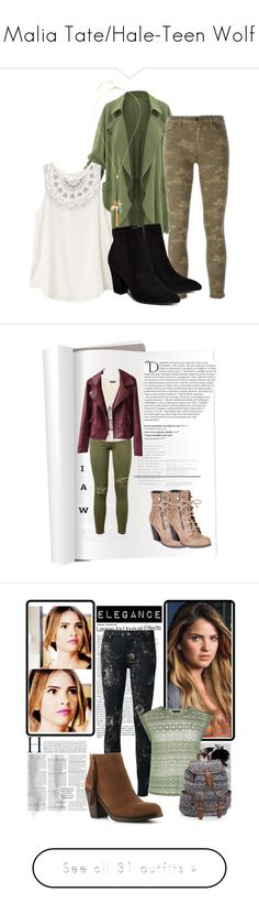 """Malia Tate/Hale-Teen Wolf"" by maliahennig ❤ liked on Polyvore featuring RVCA, J Brand, Billini, Henri Bendel, Current/Elliott, Banana Republic, Mojo Moxy, Balmain, Mixit and tumblr"