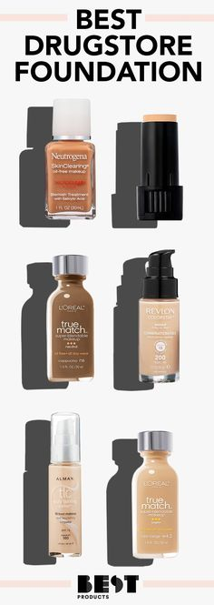We Spent Almost 300 Hours Testing Drugstore Foundation to Find the Best Peptides Skin Care, Oily Skin Care, Skin Care Tips, Best Drugstore Foundation, No Foundation Makeup, Best Drugstore Primer, Best Makeup Products, Beauty Products, Frases