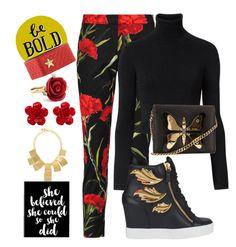 """Be Bold!!!"" by carlenewright on Polyvore featuring Dolce&Gabbana, Witchery, Just Cavalli, Giuseppe Zanotti, Gucci, Oscar de la Renta, Chanel and Kenneth Jay Lane"