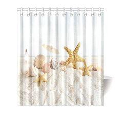 Achetez GCKG Sea Shells and Starfish Decor Shower Curtain, Beach Seashells Nautical Ocean Seaside Seascape Coastal Art Print Polyester Fabric Shower Curtain 66x72 Inches, White Sand à Walmart Canada. Magasinez plus de Rideaux de douche disponible en ligne à Walmart.ca.