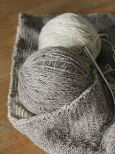yarn love - work in progress with pure sheep wool