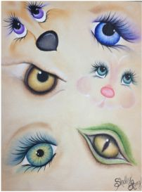 Painting eyes