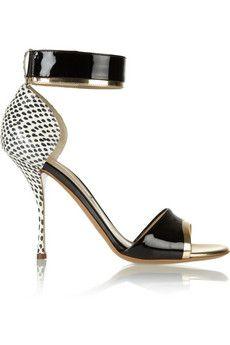 Nicholas Kirkwood Elaphe, metallic and patent-leather sandals