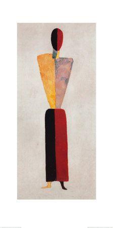 La jeune fille, silhouette sur fond blanc Affiches par Kasimir Malevich sur AllPosters.fr