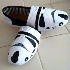Star Wars Stormtrooper Toms Shoes. I am not even into Star Wars that much, but these are cool.
