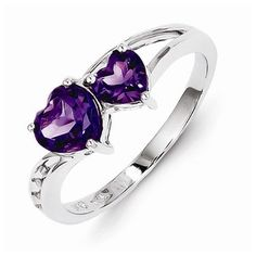 925 Sterling Silver Colored w/ White Gold Diamond and Violet Purple February Simulated Birthstone Amethyst Love Heart Engagement Ring (.02 cttw.) (2mm) by Sonia Jewels - See more at: http://blackdiamondgemstone.com/colored-diamonds/jewelry/925-sterling-silver-colored-w-white-gold-diamond-and-violet-purple-february-simulated-birthstone-amethyst-love-heart-engagement-ring-02-cttw-2mm-com/#sthash.vDTAZfQQ.dpuf