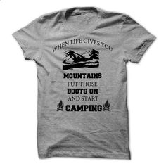 Start camping - #mens tee #tee party. SIMILAR ITEMS => https://www.sunfrog.com/Camping/Start-camping.html?68278