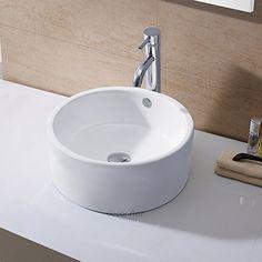 Decor Star CB-008 Bathroom Porcelain Ceramic Vessel Vanity Sink Art Basin with Overflow ** Learn more by visiting the image link. #BathroomRemodel