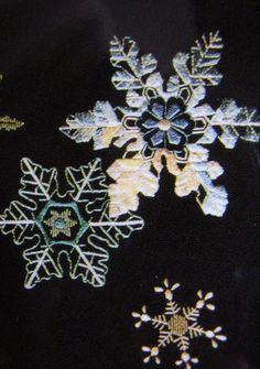 雪の結晶・日本刺繍 l 日々と日本刺繍