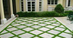 New Cement Patio Landscaping Grass Ideas Grass Pavers, No Grass Backyard, Backyard Patio Designs, Backyard Fences, Backyard Pavers, Backyard Ideas, Patio Ideas, Pavers Ideas, Landscaping Ideas