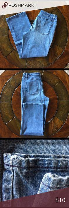 Coldwater Creek jeans Coldwater Creek jeans. Some wear & tear on bottom hem. Photos show. Pants Straight Leg