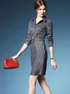 ワンピース、OL/フォーマルワンピース、秋ファッション新作欧米長袖Vネックワンピース激安通販。100%品質保証、100%返品保証。