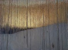 David Grossmann, Before the Sun Came Through the Trees, oil on panel, 18 x 24 in