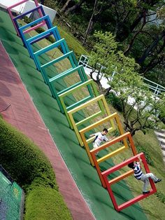playscape Hakone * Japan's Amazing Open Air Museum Atelier Architecture, Landscape Architecture, Landscape Design, Architecture Design, Pavilion Architecture, Playground Design, Outdoor Playground, Children Playground, Urban Furniture
