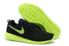 2013 nuovo Sneaker Nike Roshe Run Donna Scarpe Da Running - Nero  green giallo 6cb3e662527