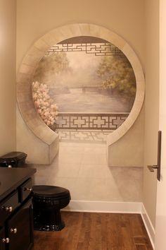 trompe l'oeil mural by Mindy Barker