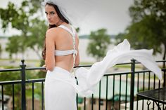 Such a gorgeous dress for an intimate wedding followed by a romantic reception at the River Inn of Harbor Town! Amazing! Click the image to learn more! Photo credit: Amy Hutchinson Photography