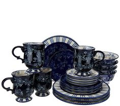 Temp-tations 20-piece Floral Lace Service for 4 Dinnerware Set